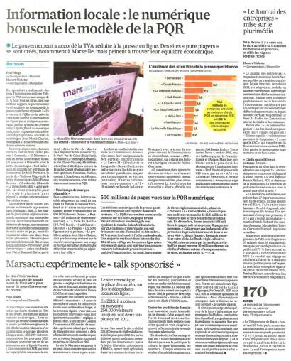2014-02-06 - Le numérique bouscule le modèle de la PQR